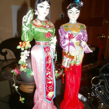 Oriental Dolls made of styrofoam - Dolls