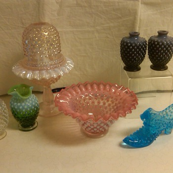 Fenton Hobnail From my Collection: Ultra rare Violet Opalescent Purfumes - Glassware