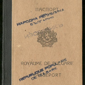 1948 passport with early Israeli visa - Paper