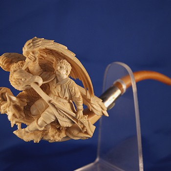 Part of my collection of 19th century Meerschaum Pipes - Tobacciana