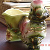 1950's Hull Pottery Novelty Parrot With Cart Planter #60