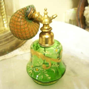 Nice green Victorian perfume bottle