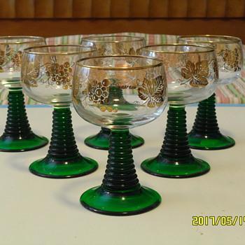 Bockling Roemer Wine Glasses - 8 oz - Set of 6 - Glassware