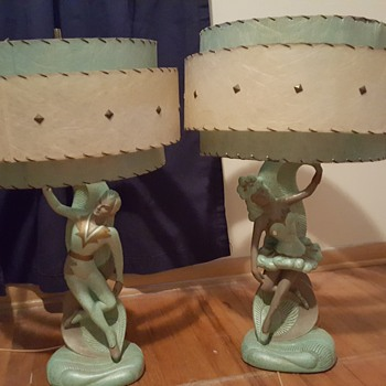 Mid Century Flamenco Dancers Table Lamp