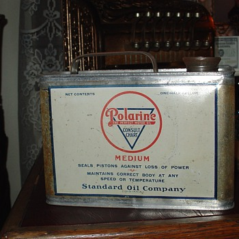 Polarine One Half-Gallon Oil Can...The Perfect Motor Oil...Standard Oil Company...1920's - Petroliana