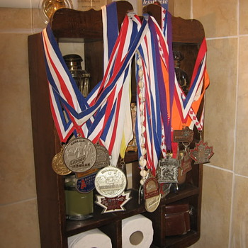 Tri-athelete metal collection - Medals Pins and Badges