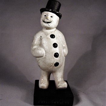 Mr. Snow Cast Iron Bank