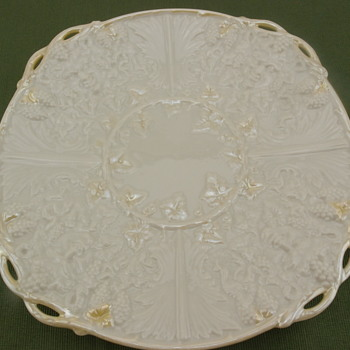 Belleek Mask Bread Plate - 3rd mark - Pottery