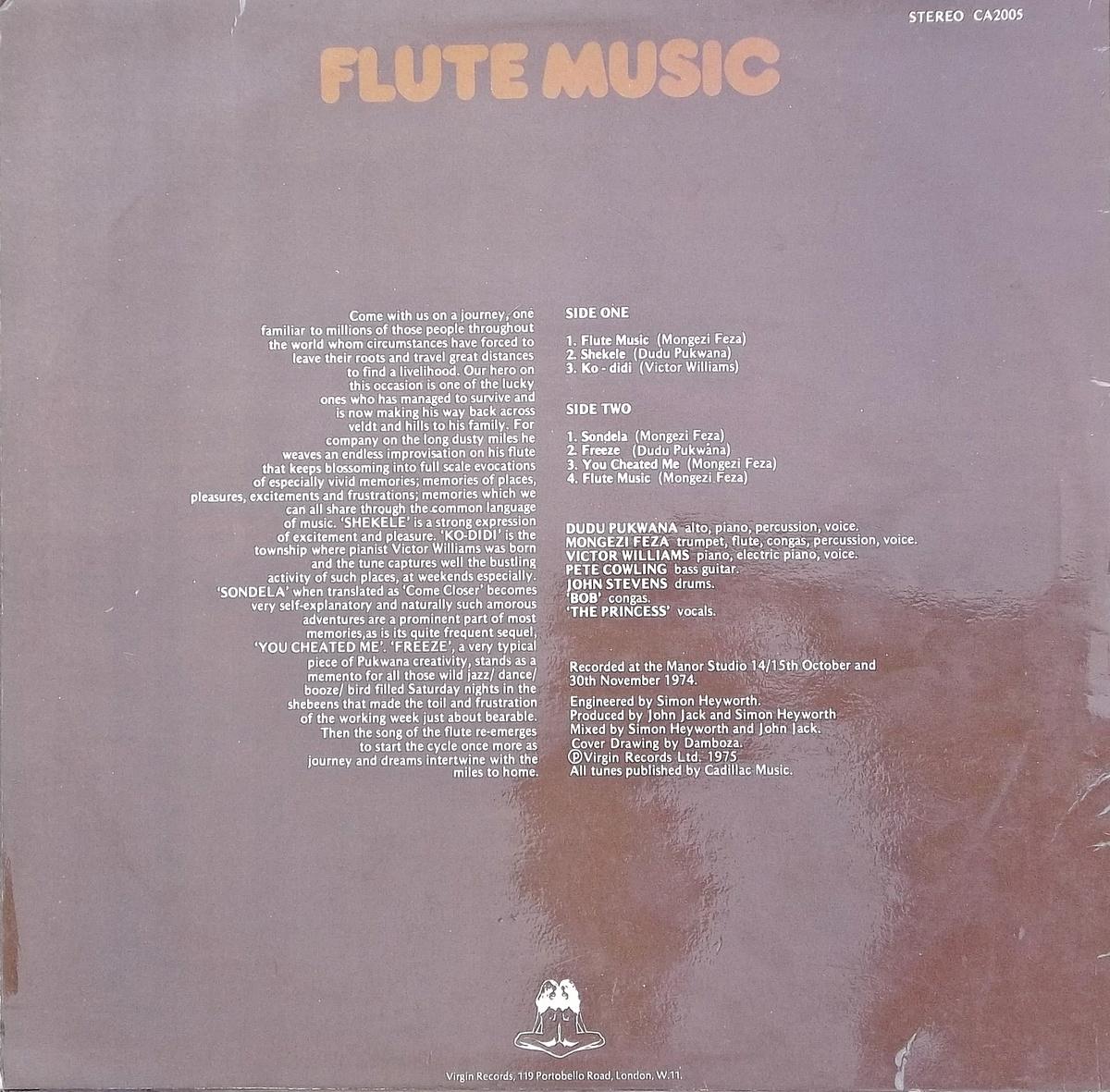Dudu Pukwana Spear Flute Music
