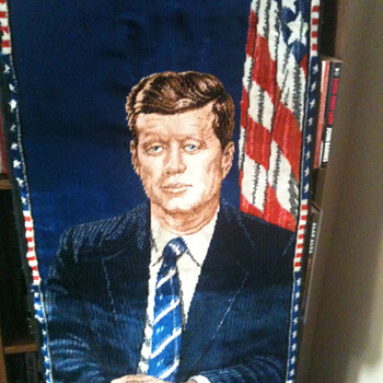 JFK, MLK and First Man on the Moon Italian made - Rugs and Textiles