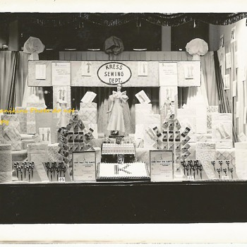Sewing Dime Store Display 1940's-50's - Sewing