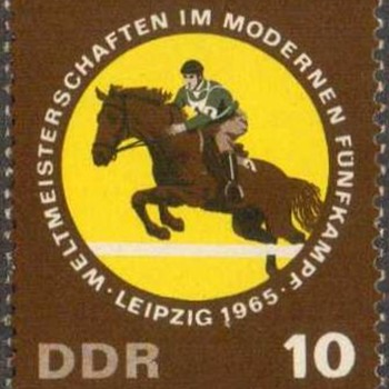 "1965 - East Germany ""Equestrian"" Postage Stamp - Stamps"