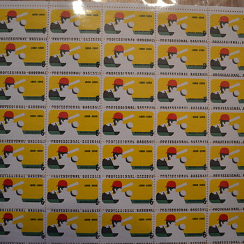 Baseball #1381 Full Sheet Error - Stamps