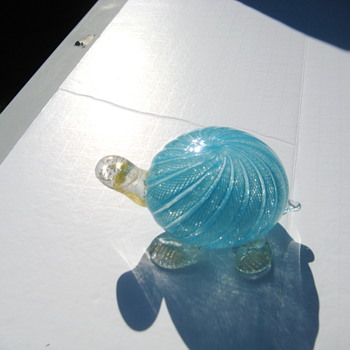 Latticino turtle - Art Glass