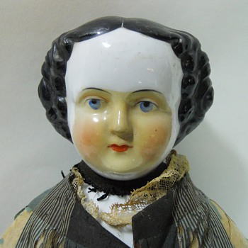 Unidentified Unique China Head Doll