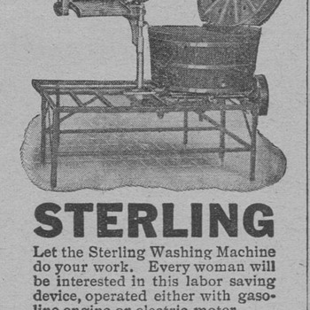 1919 - Sterling Washing Machine - Advertising