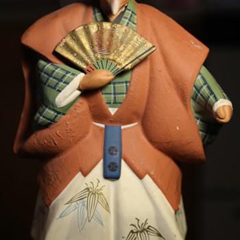 Hakata Urasaki Samurai Doll  - Pottery