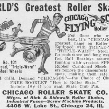 1948 - Chicago Roller Skates Advertisement
