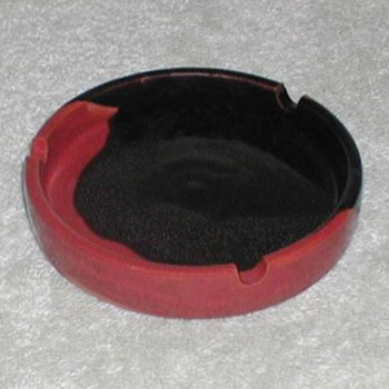 Black & Orange Pottery Ashtrays