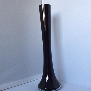Long glass vase