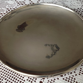 Large sterling platter, New York 1920's