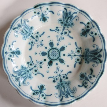 Delft Plate/Bowl~Nice shape, color~Know the mark? - China and Dinnerware