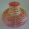 TWISTED NAILSEA 'TYPE' GLASS  VASE