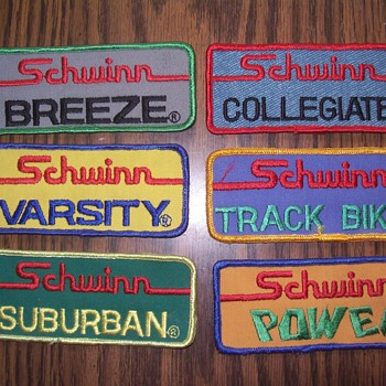 Schwinn patches. - Advertising