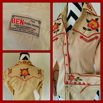 BEN The Rodeo Tailor western gabardine Shirt