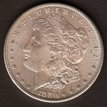 Morgan Dollar 1880 s, my favorite coindesign