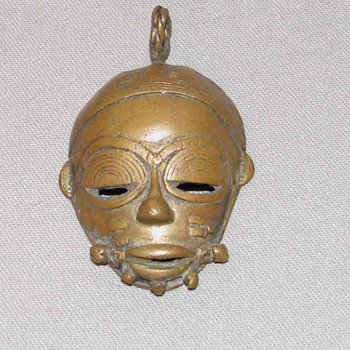 Brass mask - Folk Art