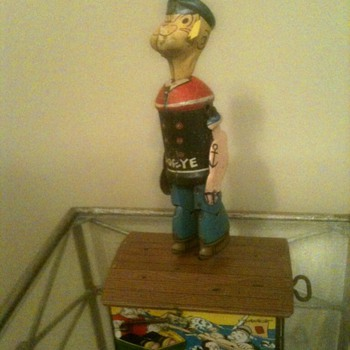 Marx 1930's Popeye Jigger Tin Windup Toy - Toys