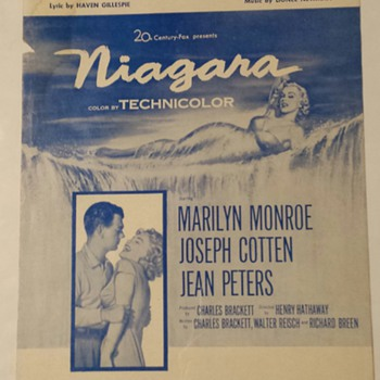 KISS - Film Sheet Music - 'KISS' FROM THE FILM NIAGARA, MARILYN MONROE