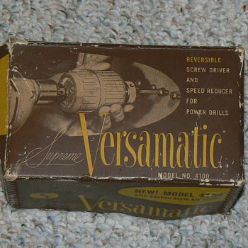 Versamatic reversible screw driver model no. 4100 - Tools and Hardware