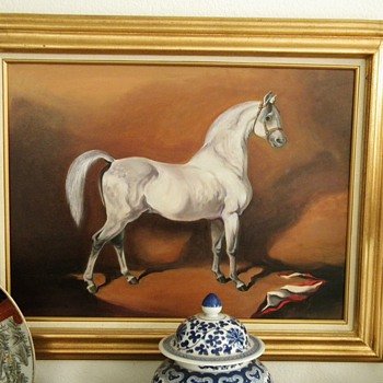 "Vintage ""Grey Arabian Horse"" By my  mother Reiko A"