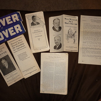 1928 Hoover for President. Letters, Brochures, Stickers.... - Paper