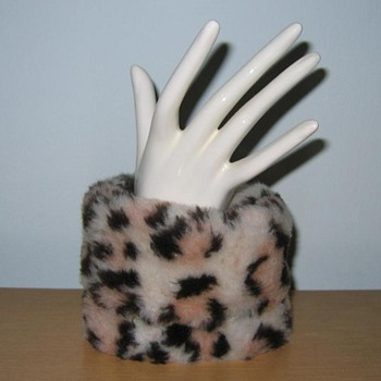 Hand mannequin with faux leopard cuff - Mid-Century Modern