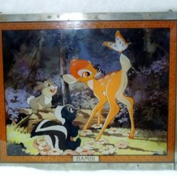 A mystry from Wal Disney-Stained Glass Painting of Bambi, Thumper and Flower - Movies