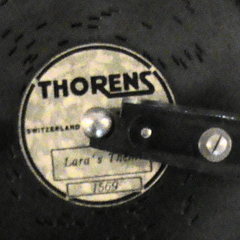 Thorens Music Box from Switzerland with metal records - Victorian Era