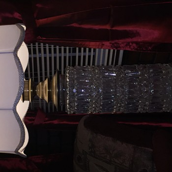 Vintage lamp crystal brass base