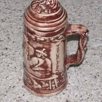 clay mug ?????  anyone seen one of these before - Breweriana