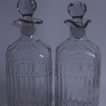 Georgian Square Spirit Bottles - Art Glass
