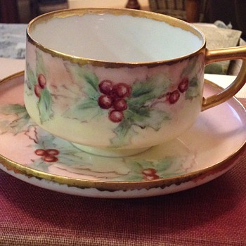 Handmade? porcelain tea cup and saucer