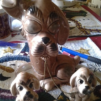 dog family figurines