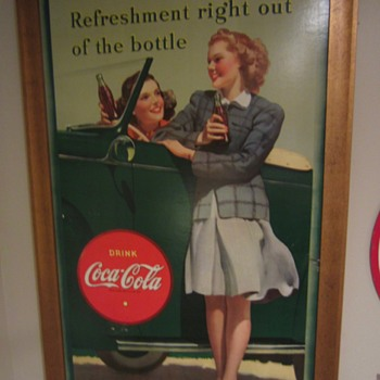 1942 BIG Coca Cola Advertising sign