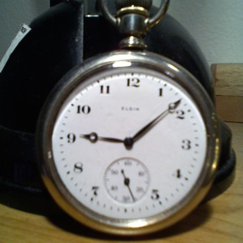 ELGIN 16 size basic big ol pocket watch from the 20s - Pocket Watches