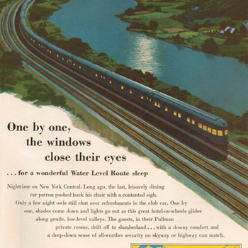 1953 - New York Central Railroad Advertisement - Advertising