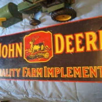 1960's John Deere sign - Advertising