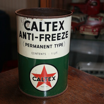 caltex quart oil can