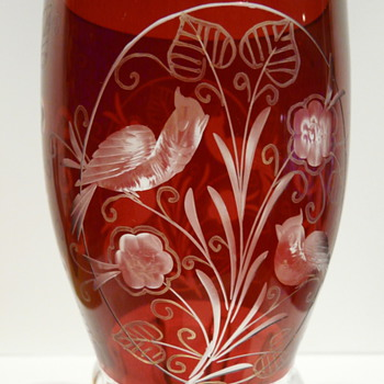 JUGENDSTIL RUBY FLASHED GOBLET ? - Art Glass
